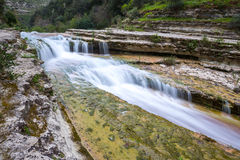 Cassibile River in Cavagrande del Cassibile natural reserve, Sicily, Italy Royalty Free Stock Photo