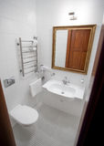 Cassic elegant white bathroom Royalty Free Stock Photo