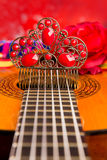 Cassic spanish guitar with flamenco elements Royalty Free Stock Photography