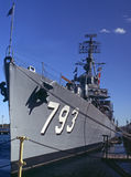 Cassin young destroyer. Close-up of the cassin young destroyer in boston,massachusetts Royalty Free Stock Photography