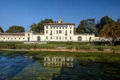 Cassinetta di Lugagnano Mailand, Italien: Landhaus Visconti Maineri Lizenzfreie Stockfotografie