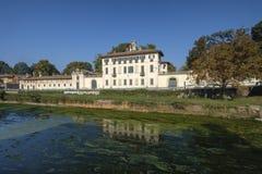 Cassinetta di Lugagnano Milão, Itália: Casa de campo Visconti Maineri Imagem de Stock Royalty Free