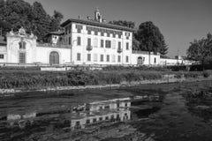 Cassinetta di Lugagnano Milan, Italy: Villa Visconti Maineri Royalty Free Stock Photography