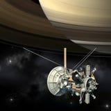 Cassini beskickningorbiter som stänger Saturn Royaltyfria Bilder