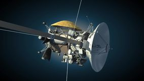 Cassini orbiter royaltyfri illustrationer