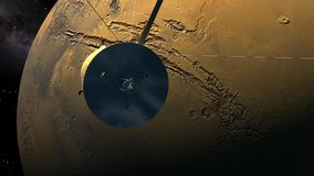 Cassiniorbiter die Mars overgaan stock illustratie
