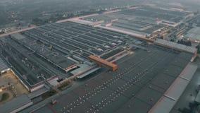 Cassino, Italy - December 28, 2018. Aerial view of FCA Italy S.p.A. Cassino car plant. Cassino, Italy - December 28, 2018. Aerial shot of FCA Italy S.p.A Cassino stock footage