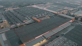 CASSINO, ITALY - DECEMBER 28, 2018. Aerial view of FCA Italy S.p.A. Cassino car plant. CASSINO, ITALY - DECEMBER 28, 2018. Aerial shot of FCA Italy S.p.A Cassino royalty free stock photography