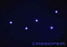 Cassiopeia constellation Royalty Free Stock Images