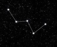 Cassiopeia de la constelación Fotografía de archivo