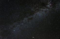 Cassiopeia e a galáxia da Via Látea imagens de stock