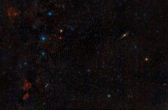 Cassiopeia-Konstellationen und Andromeda Galaxy lizenzfreies stockfoto