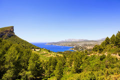 Cassis bay from route des cretes scenic road. Cote Azur, Provenc Royalty Free Stock Images