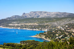 Cassis bay and sea. Cote Azur, Provence, France. Stock Photos