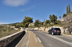 Cassis, Bouches du Rhone. France, Bouches du Rhone, Cassis,Road of the Ridges Stock Photos