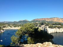 Cassis calanque. Calanque in Cassis (France stock photography