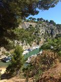 Cassis. Calanque in French Mediterranean coast royalty free stock photo