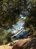 Cassis. Calanque in French Mediterranean coast Royalty Free Stock Photos