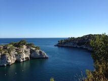 Cassis. Calanque French Mediterranean coast stock image