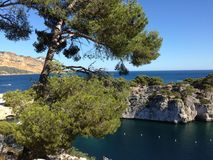Cassis. Calanque  French Mediterranean coast Stock Photos