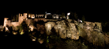 Cassis castle at night Stock Images