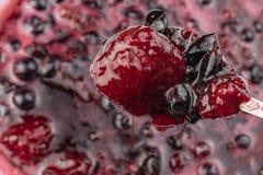 Cassis, confiture de fraise photo libre de droits
