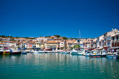 cassis France port Obrazy Royalty Free