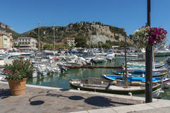 Cassis harbor in the French Riviera Royalty Free Stock Images