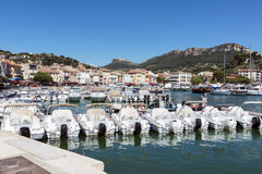 Cassis harbor in the French Riviera Royalty Free Stock Photo