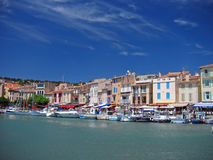 Cassis harbour. Near marseille in summer royalty free stock photos