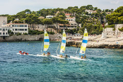 Cassis Harbour, Cassis France 13th August 2012. Stock Images
