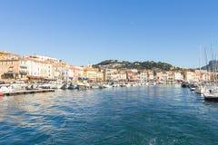 Cassis portu dnia widok, Francja Fotografia Stock