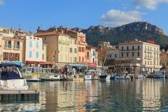 Cassis portu dnia widok, Francja Obraz Stock