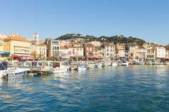 Cassis portu dnia widok, Francja Zdjęcia Royalty Free