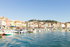 Cassis portu dnia widok, Francja Zdjęcie Royalty Free