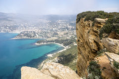 Cassis And The Route de Crete Stock Photography