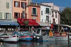 Cassis small boats Stock Photo