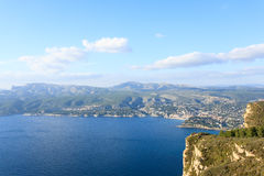 Cassis view from Cape Canaille top, France Stock Photography