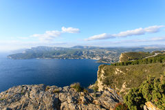 Cassis view from Cape Canaille top, France Royalty Free Stock Image