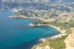 Cassis view from Cape Canaille top, France Royalty Free Stock Photography