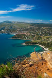 Cassis view from Route de Cretes Royalty Free Stock Images
