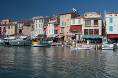 Cassis village from the sea Royalty Free Stock Image