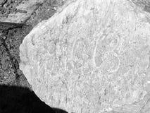 Casso - pietra del 9 ottobre 1963 Fotografia Stock
