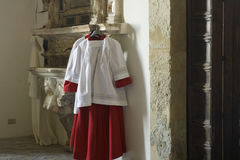 Cassock for altar boy Stock Photography