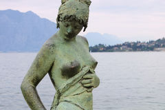 Cassone di Malcesine Statue on Lake Garda Royalty Free Stock Image