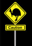 Cassowary sign Stock Image
