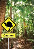 Cassowary sign Stock Images