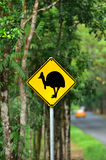 Cassowary warning sign in Queensland Australia Royalty Free Stock Photography