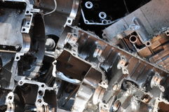 Cast alumnium metal scrap 2. Cast alumnium motor parts metal scrap Royalty Free Stock Photo