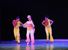 Cast amorous glances -Northeast Errenzhuan-The campus show. In December 27, 2014, the Department of dance of the students are for the annual graduation Royalty Free Stock Photos